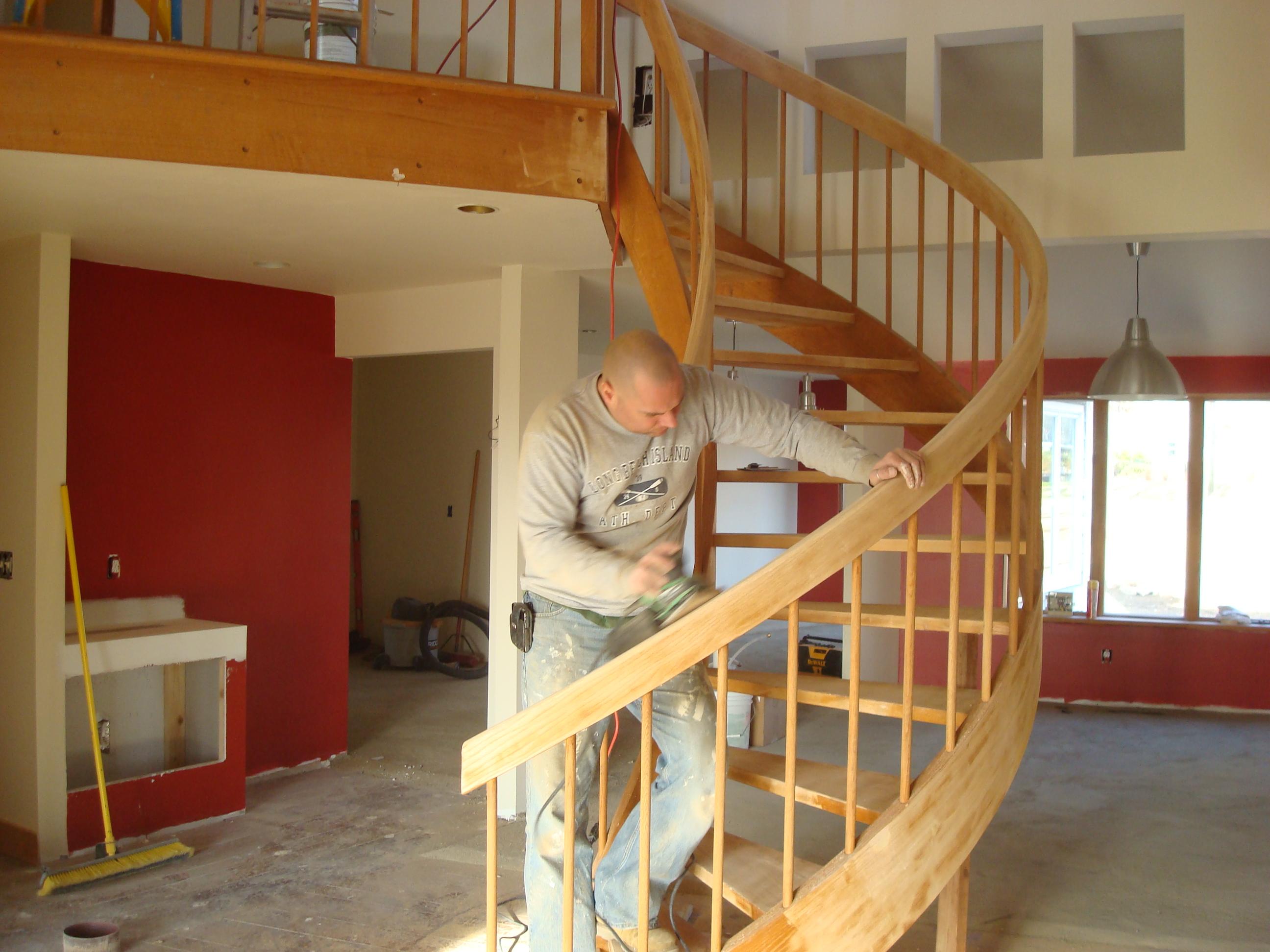 מדרגות עץ בצפון