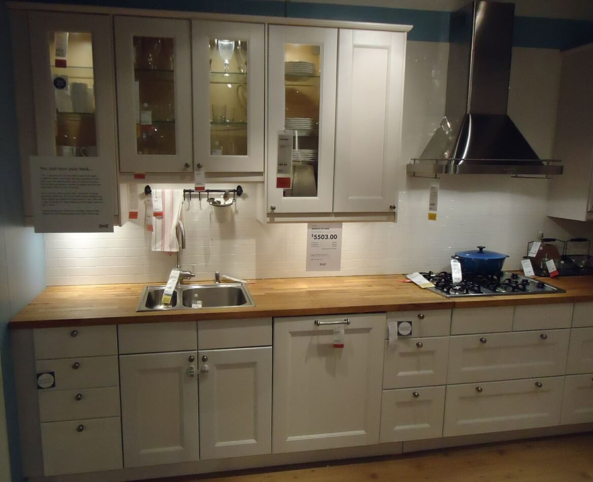 Shaker Style Kitchen Straight Run Of Sink And Base Units
